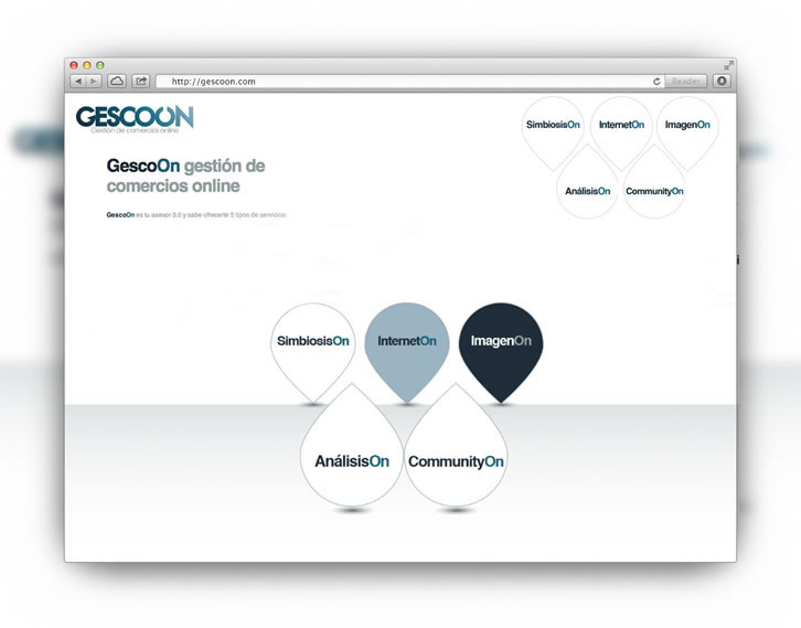 Diseño web corporativa Gescoon
